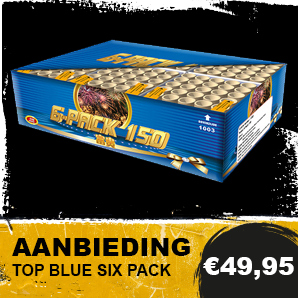 Vuurwerk Top Blue Six Pack